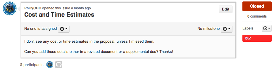 Experiments in GitHub Based Procurement  (2/3)